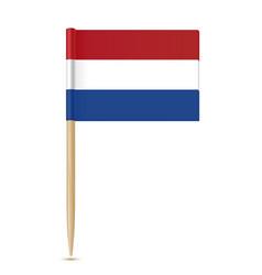 netherlands flag toothpick vector image