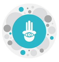 of religion symbol on hamsa vector image