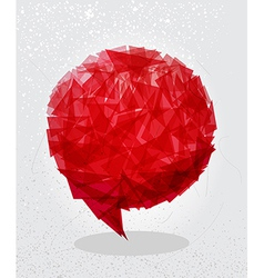 Red social bubble shape vector image vector image