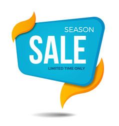 season sale label price tag banner sticker badge vector image