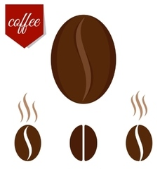 set of coffee beans vector image