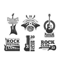 vintage heavy rock jazz band guitar shop music vector image vector image