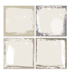 Abstract grunge frame set brown beige and white vector image vector image