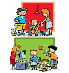 Children playing vector image vector image