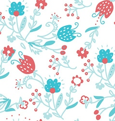 Floral seamless pattern for textile - simple cute vector image vector image