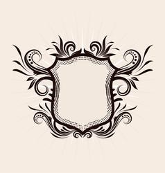 Shield Decorative ornament vector image