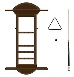 Wall cue rack vector image