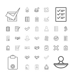 37 agreement icons vector