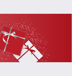 abstract gift box holiday greeting background vector image