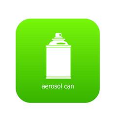 aerosol can icon green vector image
