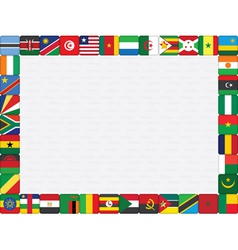 African countries flag icons frame vector image
