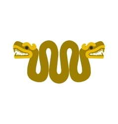 Aztec snake with two heads icon flat style vector