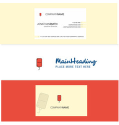 beautiful blood bottle logo and business card vector image