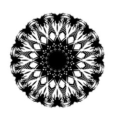 black tribal tattoo 0006 vector image