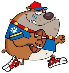 Bulldog football player vector