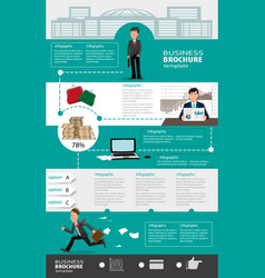 business infographic templates with people vector image