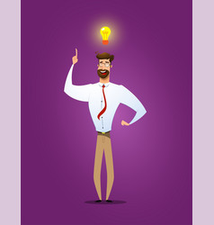 businessman showing he has new idea vector image