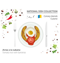 canary islands cuisine european national dish vector image