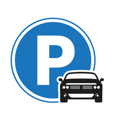 Car automobile parking sign icon with circle vector