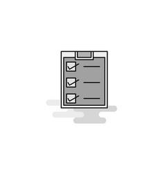 checklist web icon flat line filled gray icon vector image