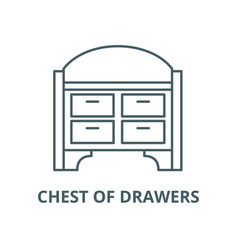 Chest drawers line icon linear concept vector