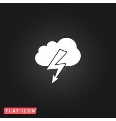 Cloud lightning icon vector