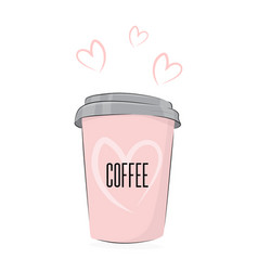 coffee drink cute food cup of vector image