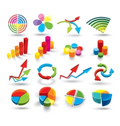 Colorful graphs vector