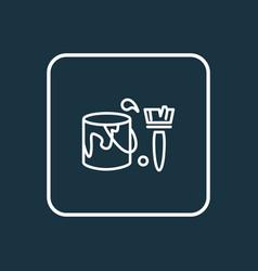 coloring wall icon line symbol premium quality vector image
