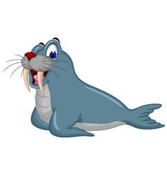 cute Cartoon walrus vector image