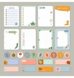 Cute Daily Calendar and To Do List Template vector