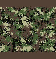 Digital camouflage pattern seamless vector