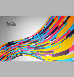 dynamic colorful wave abstract background for web vector image