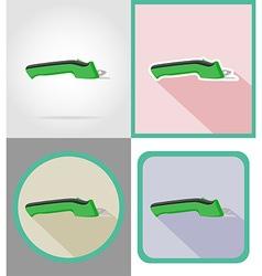 Electric repair tools flat icons 13 vector