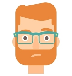 Envious man in glasses vector image