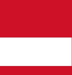 Flag of monaco official colors and proportions vector