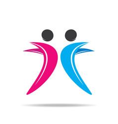 friend icon design vector image