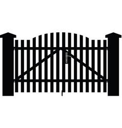 Gate house vector