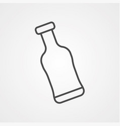 glass bottle icon sign symbol vector image