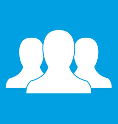 Group of people icon white vector