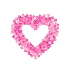 Heart Shape Frame Made Of Pink Hearts Valentines vector