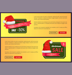 hot prices christmas sale web banners push buttons vector image