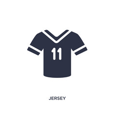 Jersey icon on white background simple element vector