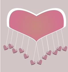 Little hearts hanging vector