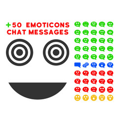 mad smile icon with bonus emotion set vector image