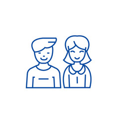 man and woman line icon concept man and woman vector image