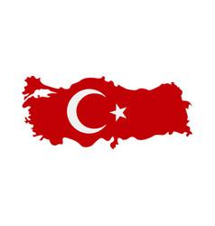 map turkey - flag vector image