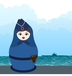 Matryoshka submarine officer vector