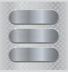 Metal brushed plates on non slip metallic surface vector