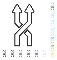 Mix arrows vertical icon vector